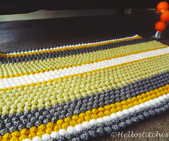 Puff/ Bobble stitch Blanket/ Rug