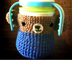How to: Crochet teddy feeding bottle cover