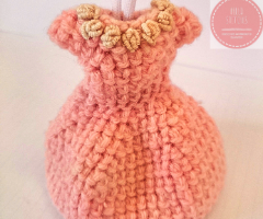 Easy cute crochet dress keychain