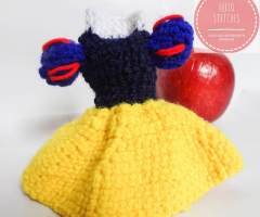 Crochet disney princess dress – Snow white