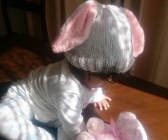 Knit bunny beanie – free pattern