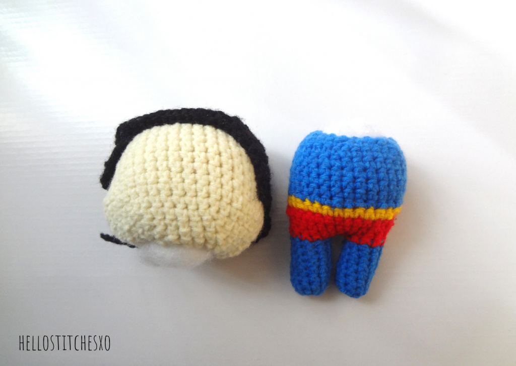 stuffed superman head hair and body