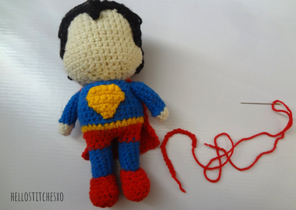 superman logo crochet