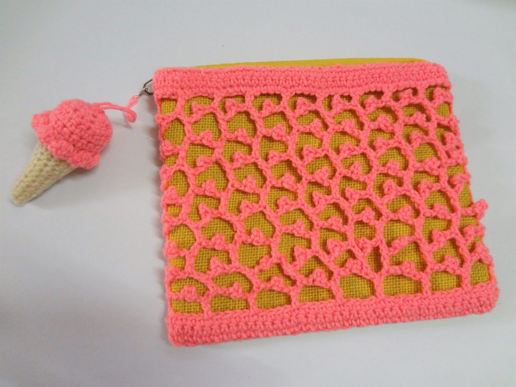 crochet lace purse