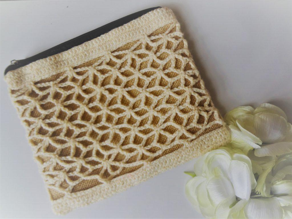 crochet lace purse