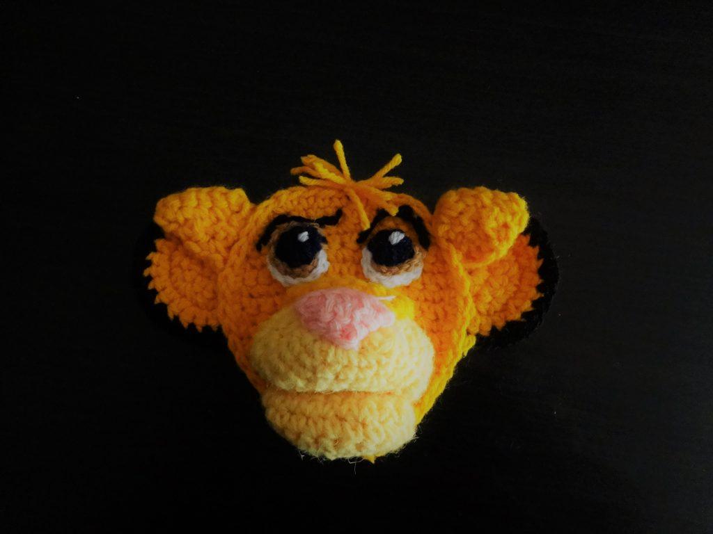 Crochet simba patchwork/applique