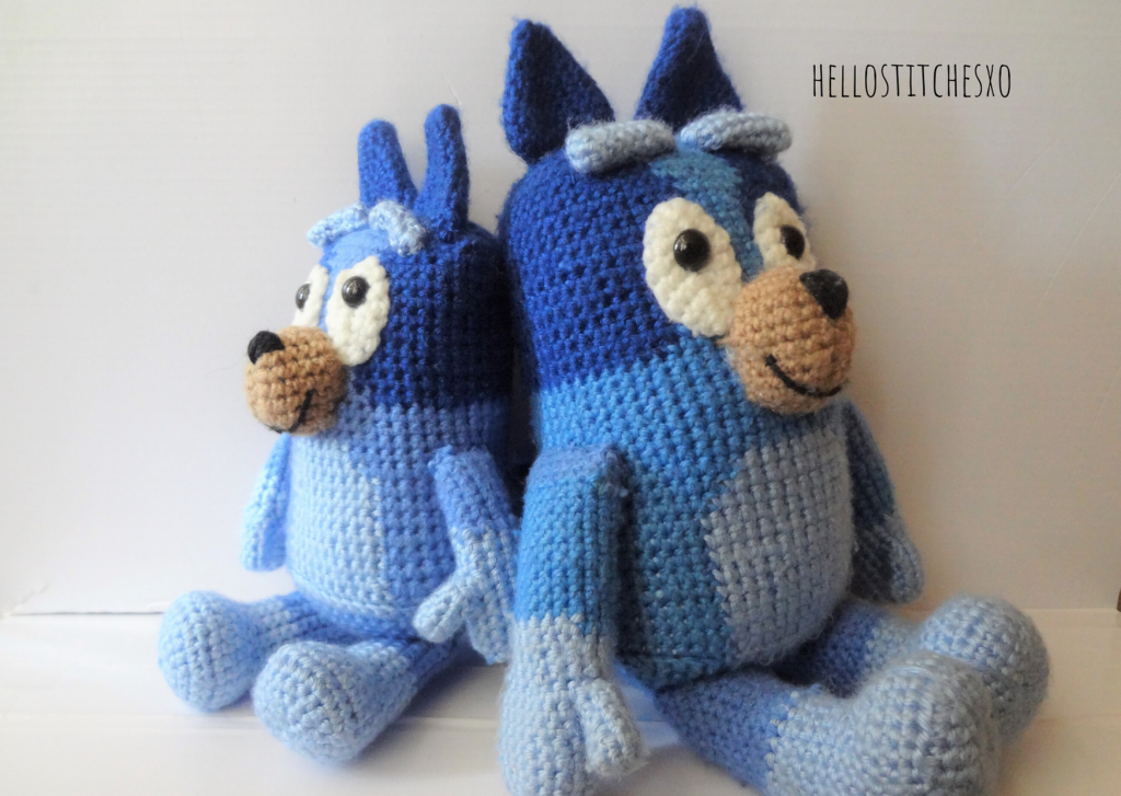 Bluey Bingo crochet toy