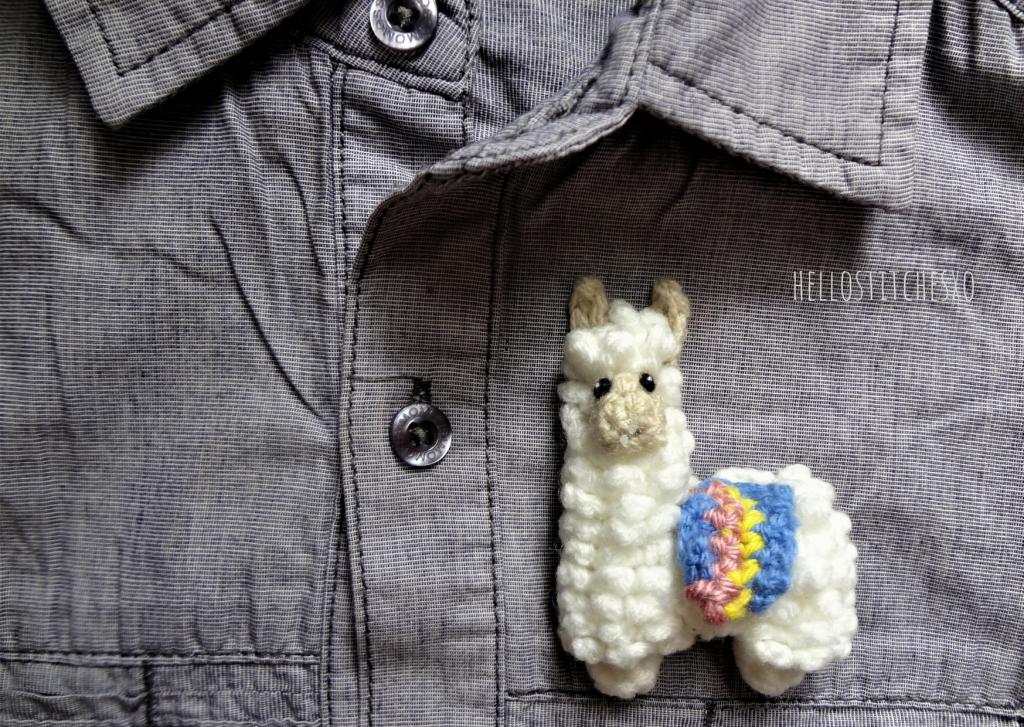 crochet brooch pattern llama