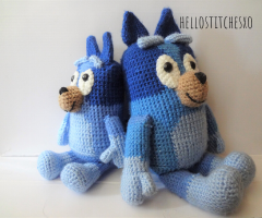 Bluey/Bingo crochet toy