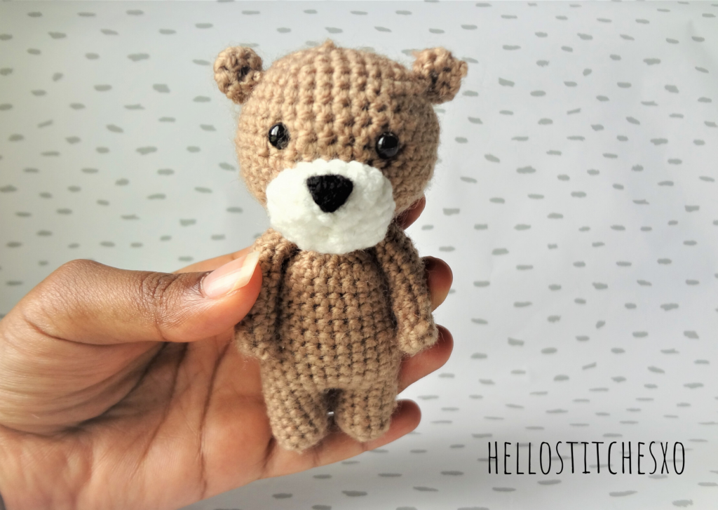 first amigurumi bear step-by-step instructions tamil