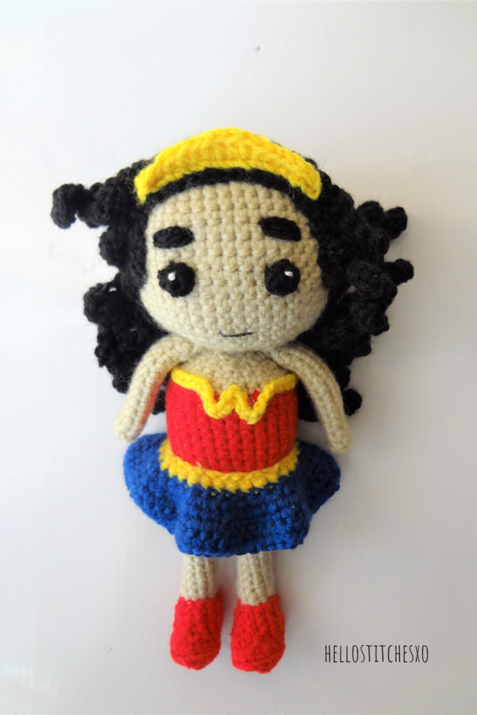 Wonder Woman Toy amigurumi free pattern