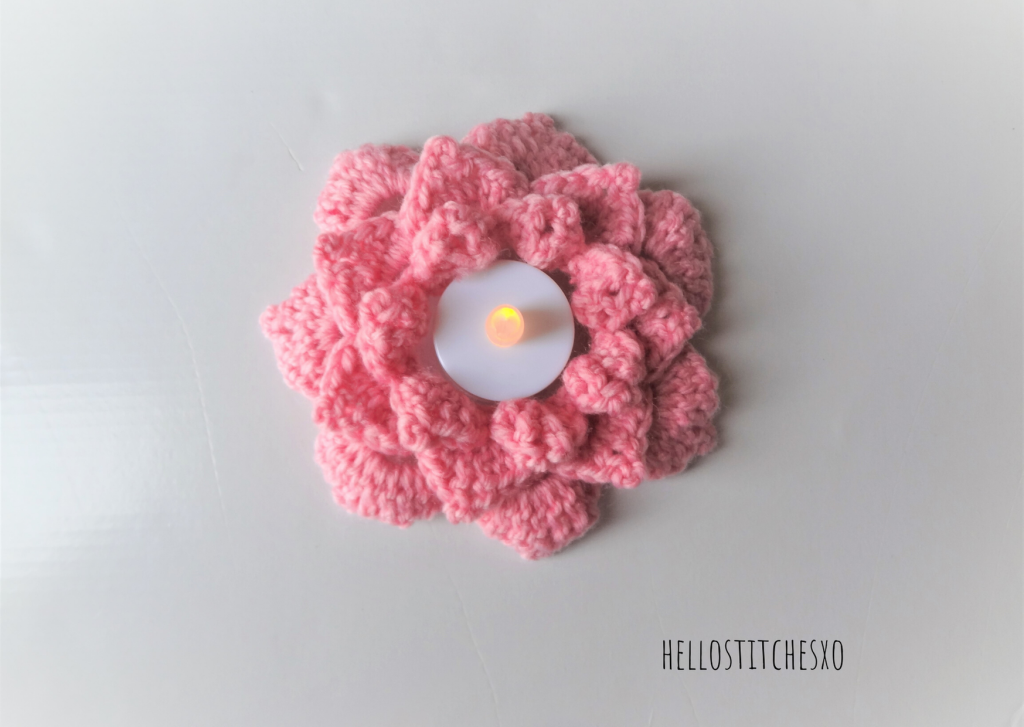 Crochet tealight candle holder free pattern