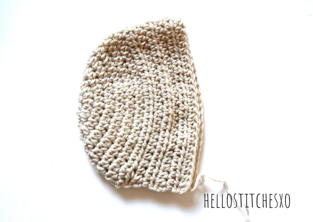 hdc baby bonnet