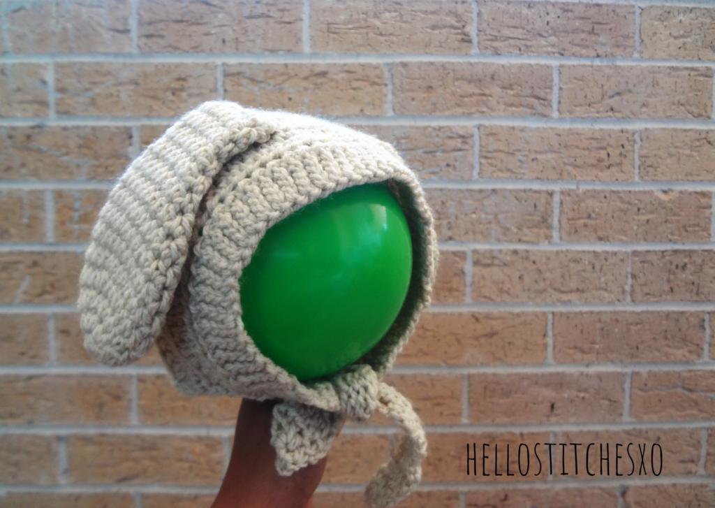 Crochet bunny ears baby bonnet