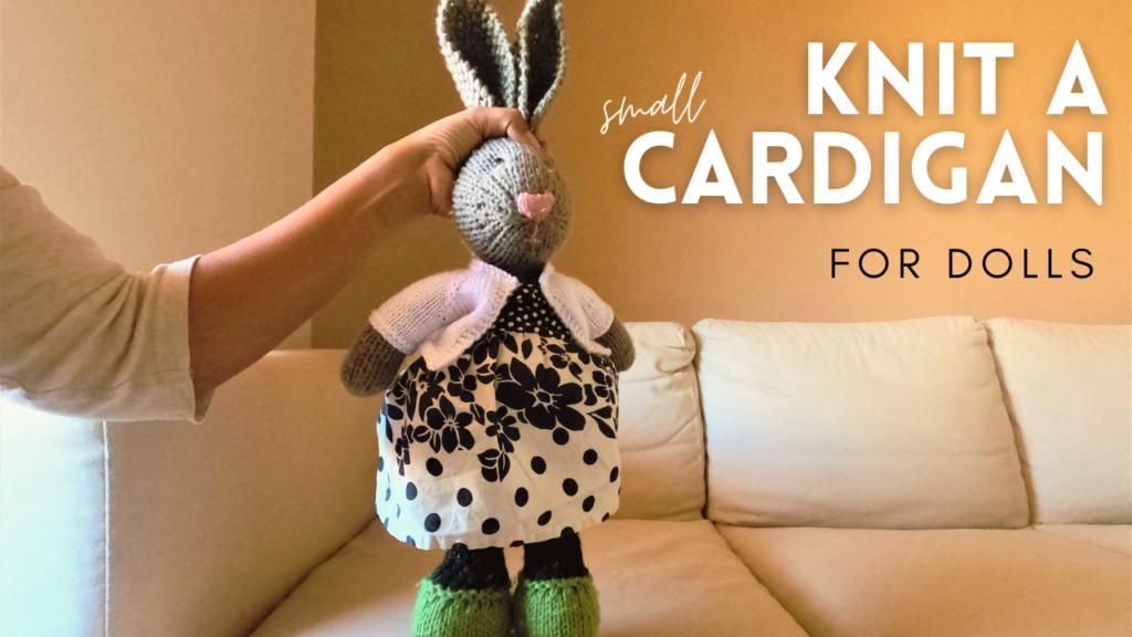 knit cardigan for amigurumi free pattern